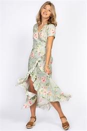 Bild på Brielle Dress Spring Green/Rose/Sun Yellow